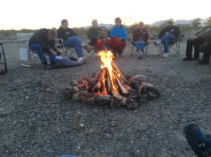 one of many campfires
