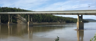Only bridge that crosses the mighty Yukon river