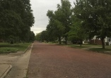 Brick street in Fort Scott, KS