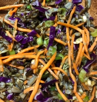 A sumptuous Asian salad with wild rice.