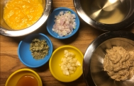 Mise en place for Dijon Vinaigrette