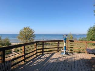 Viewing deck at Lake Michigan